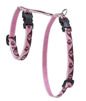 "Lupine 1/2"" Tickled Pink 12-20"" H-Style Cat Harness"
