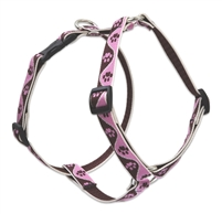 "Lupine 3/4"" Tickled Pink 14-24"" Roman Harness"