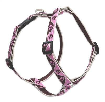 "Lupine 3/4"" Tickled Pink 20-32"" Roman Harness"