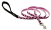 "Lupine 1/2"" Tickled Pink 4' Padded Handle Leash"