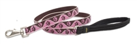 "Lupine 3/4"" Tickled Pink 6' Padded Handle Leash"