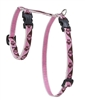 "Lupine 1/2"" Tickled Pink 9-14"" H-Style Cat Harness"