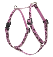 "Lupine 1/2"" Tickled Pink 9-14"" Roman Harness"