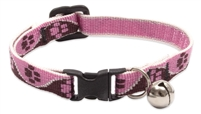 "Lupine 1/2"" Tickled Pink Cat Safety Collar with Bell"