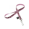 "LupinePet Original Design 1/2"" Tickled Pink Lanyard"