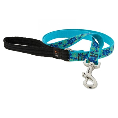 "Lupine 3/4"" Turtle Reef 6' Padded Handle Leash"