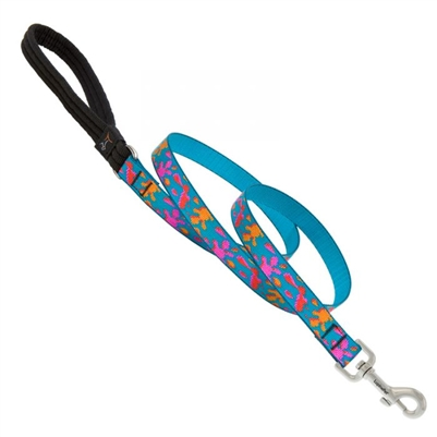 "Lupine 3/4"" Wet Paint! 4' Padded Handle Leash"
