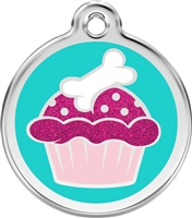 Red Dingo Medium Glitter Cupcake Tag