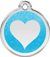 Red Dingo Large Glitter Heart Tag