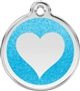 Red Dingo Small Glitter Heart Tag
