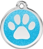 Red Dingo Large Glitter Paw Print Tag