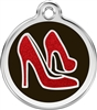 Red Dingo Large Glitter Red Shoes Tag