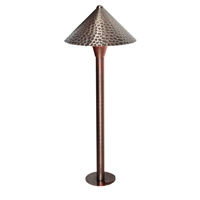 3-Watt LED Bronze Textured Dome Path Light
