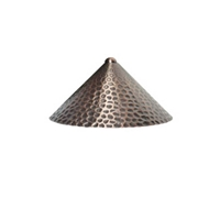 Brass 3-Watt Textured Path Light Hood