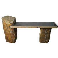 "47"" Basalt Bench with Recessed Side"