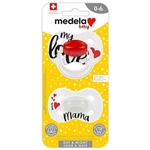 Medela Day & Night Glow In The Dark Pacifiers With Protection Cap ( 2 - Pack )