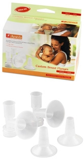 Ameda CustomFit Breast Flanges Without BPA Size Medium & Large