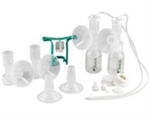 Ameda Dual HygieniKit Milk Collection System with CustomFit Flange System and One-Hand Manual Breast Pump Adapter None Sterile
