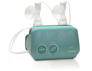 Ameda Elite Electric Breast Pump Rental For 3 Months with built in bottle holder and detachable cord