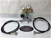 Uniweld 1500 PSI Nitrogen Regulator Shock Kit with Dual Hose. RUBBER OR STAINLESS HOSE.