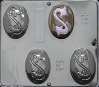 002 Oval Bar with Scroll Soap or Chocolate Candy Mold