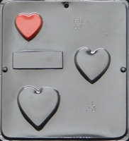 023 Stacking Hearts Soap or Chocolate Candy Mold