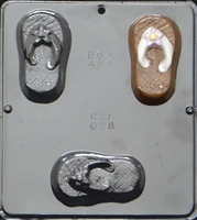 028 Flip Flop Soap or Chocolate Candy Mold