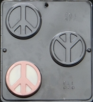030 Peace Symbol Soap or Chocolate Candy Mold