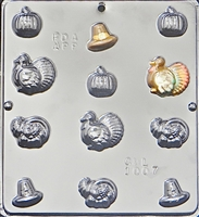 1007 Thanksgiving Assortment Chocolate Candy Mold