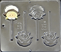 1016 Pilgrim Girl Lollipop Chocolate