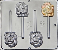 1019 Turkey Lollipop Chocolate Candy Mold
