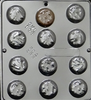 106 Mint Patty Chocolate Candy Mold