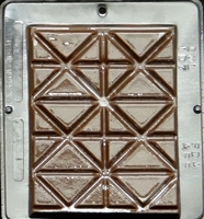 107 Break Up Bar Chocolate Candy Mold