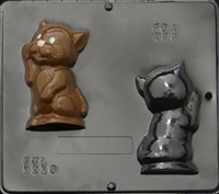 1220 Kitten Assembly Chocolate Candy Mold