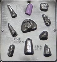 1224 Rock Collection Chocolate Candy Mold