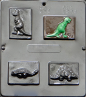 1264 Dinosaur Assortment Chocolate Candy Mold
