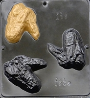 1268 Chicken Wing Chocolate Candy Mold