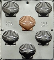 127 Scallop Shell Chocolate Candy Mold
