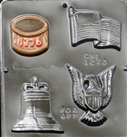 1273 American Assortment (Flag, Eagle, Drum, Liberty Bell)