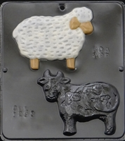 1293 Cow & Sheep Chocolate Candy Mold