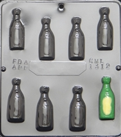 1312 Champagne Bottle Small Chocolate Candy Mold