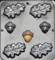 1315 Oak Leaves & Acorn Chocolate Candy Mold