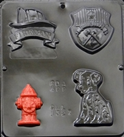 1327 Fireman Assortment Chocolate Candy Mold
