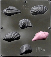 1333 Sea Shells Variety Chocolate Candy Mold