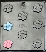 1338 Paw Print Chocolate Candy Mold