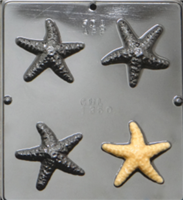 1350 Starfish Chocolate Candy Mold