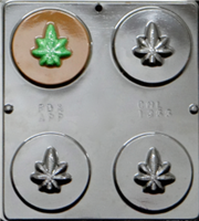 1355 Marijuana Disc Chocolate Candy Mold