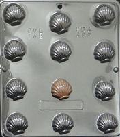 142 Small Sea Shells Chocolate Candy Mold