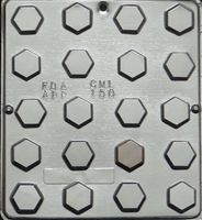150 Hexagon Flat Pieces Chocolate Candy Mold