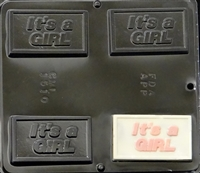 1510 It's a Girl Chocolate Candy Mold